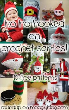 It's Santa Season! 10 free crochet projects to keep you Ho Ho Hooking through the Holidays!.