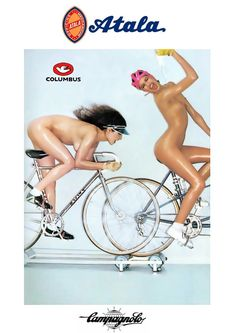 Atala girls large A4 poster Campagnolo Record C Gios Colnago master