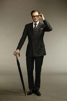 "Colin Firth channeling his inner John Steed in  ""Kingsman: The Secret Service""."