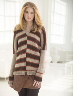 Image of Vice Versa V-Neck Pullover FREE PATTERN