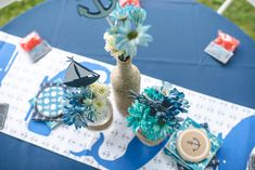 Nautical Birthday Party Tablescape - Project Nursery