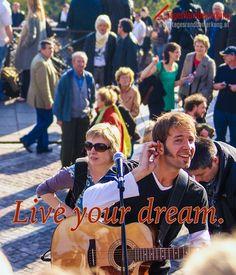 Live your dream. #QuoteOfTheDay #ZitatDesTages #TagesRandBemerkung #TRB #Zitate #Quotes