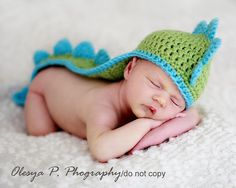 Download PDF crochet pattern 042  Dino hat  by BeezyMomsCreations, $4.95