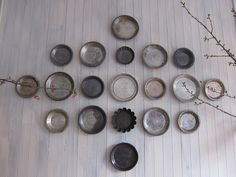 The walls were decorated with antique pie tins...could also use my silver trays!