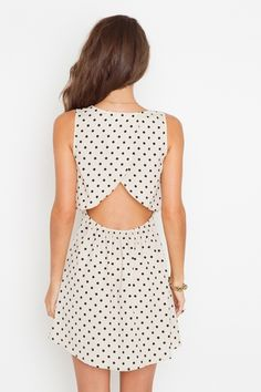 Love this design. Backless is so cute and polka dots are cute on this design and in black and white.