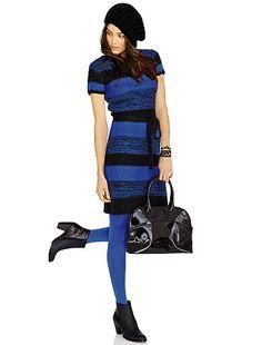 Robe pull rayée                                                                                         bleu Femme