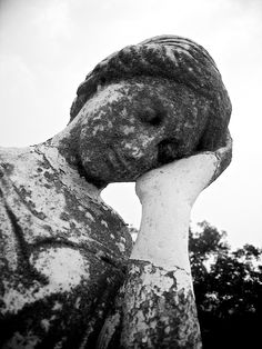 Mourning statue. Indian Mound Cemetery, West Virginia.