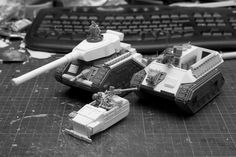 Plasticard Scratchbuilt Vanquisher, Salamander and Sentinel proxy Guardia Imperial 40k, 40k Imperial Guard, Stuff And Thangs, Mini Paintings, Warhammer 40000, Armored Vehicles, Plastic Models, Activities For Kids, Lego