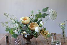 Monet-inspired centerpiece | Floral design by Sarah Winward