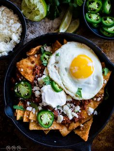 Chilaquiles Rojos. A traditional Mexican breakfast dish with a few Tex Mex additions. This dish is bursting with flavor and spice!