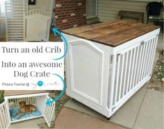 From My Love 2 CreateTurn an old Crib into an awesome Dog Crate