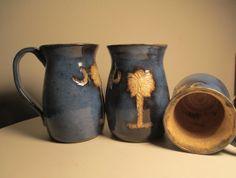 South Carolina Palmetto tree mug by ThreeLeavesPottery on Etsy, $22.00