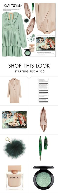"""Friday"" by bibibaubau ❤ liked on Polyvore featuring The Row, Arche, Olympia Le-Tan, Nicholas Kirkwood, MICHAEL Michael Kors, Stipula, Narciso Rodriguez, MAC Cosmetics and ruffledress"