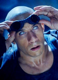 This was the first movie I ever saw him in. I love men who are not typically handsome. Vin Diesel in Pitch Black
