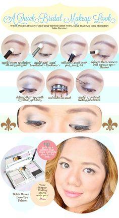 A Quick Bridal Eye Makeup Tutorial