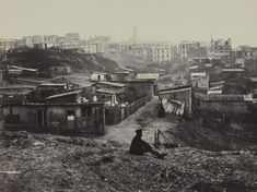 Le haut de la rue Champlain 1872 - Musee Carnavalet....reépinglé par Maurie Daboux ❥•*`*•❥