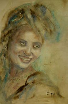 Smile, watercolor 50x60