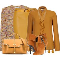 Golden, created by daiscat on Polyvore