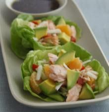 Lettuce Cups with Hass Avocado, Tangerine & Salmon Recipe