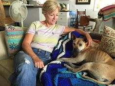 Kris Anderson can finally relax with her her dog Georgia, who was lost for nine days and walked 35 miles home.