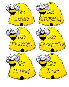 Bee Attitudes Sunday School Lesson | Bee Attitudes Activity Day Lesson Primary Activities, Activities For Girls, Bee Activities, Church Activities, Activity Day Girls, Activity Days, Bee Party, Church Crafts, Bee Crafts