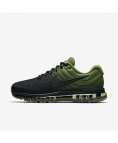 separation shoes af06f e4f43 Nike Air Max 2017 Mens Black Palm Green Black Shoes Outlet Running Shoes  Nike, Black