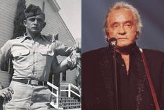 "Johnny Cash may have been known as ""The Man In Black"" and fostered an outlaw image by performing (and recording) at U.S. prisons, but the influential singer was also a military man and enlisted in the US Air Force on July 7, 1950. Cash was also a bit of a hero since he was the very first morse code operator to pick up the news of the death of U.S. enemy Joseph Stalin. Cash was honorably discharged as a Staff Sergeant on July 3, 1954."