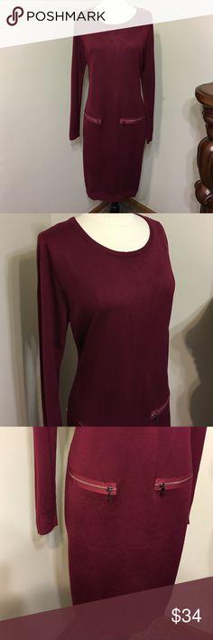 "Marc New York Andrew Size XL Knit dress NWOT NWOT, 100% Acrylic. Hand wash .Beautiful Merlot wine 🍷 color .Long sleeve.Length 39"" ,Armpit to armpit 20""(measured  flat )Size 12 Mark Andrew New York Dresses Long Sleeve"