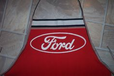 Ford Apron or Adult Bib by funfoodsaprons on Etsy