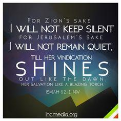Isaiah 62:1 NIV #verseoftheweek #incmedia