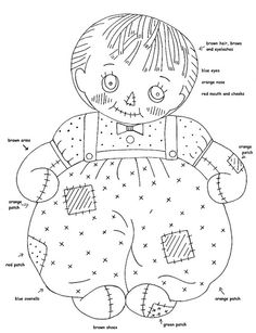 boy rag doll by love to sew, via Flickr