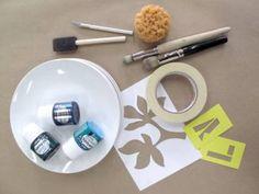Custom dinnerware with porcelain plates & Pebeo porcelain paint/marker pens