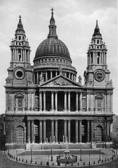 St. Pauls Cathedral- London.  Constructed between 1673 and 1710.  Designed by Christopher Wren.  Wren is best known for his work on more than 50 baroque style churches in England between the 1670's and 1710's.