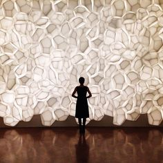 """One more for the WHP: in front of a wonderful installation by Trever Nicholas, entitled ""Luma (Voronoi Cellscape)."" The sculpture is made…"" Sculpture Art, Sculptures, Modern Art, Contemporary Art, Street Art, Instalation Art, Light Installation, Paper Installation, Art Installations"