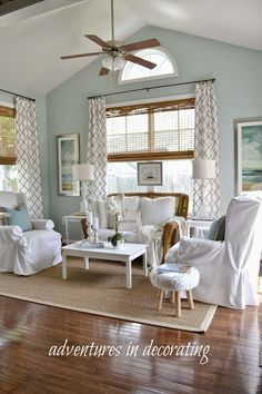 Sherwin Williams' Palladian Blue Adventures in Decorating: A New Shade for the Sunroom