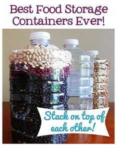 Best Foods For Long Term Storage Repurpose Everyday Food Containers For Longterm Storage  Everyday