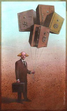 artwork satire cartoonist pawel kuczynski polish (17)