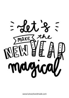 Let's Make the New Year Magical! Happy Words - Free Handlettering Calendar Printable 2020 Luloveshandmade - Handlettering in Berlin Free Calendar, Calendar Pages, Calendar Printable, Bullet Journal Ideas Pages, Bullet Journal Inspo, Word Free, Flower Logo, Quotes About New Year, Happy Words
