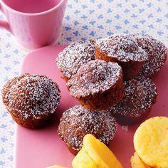 Schoko-Mini-Muffins - Another! Mini Dessert Recipes, Homemade Cake Recipes, Mini Desserts, Cupcakes, Grilled Sweet Potatoes, Best Vegan Chocolate, Chocolate Chocolate, Lactose Free Recipes, Cake Recipes From Scratch