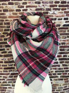 Bubble Gum Pink Blanket Scarf – URBAN MAX LLC