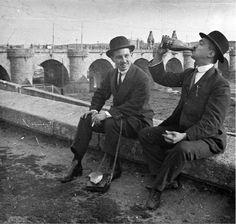 Botellón junto al Puente de Toledo