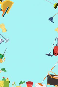 Home Cleaning Supplies Elements Blue Background Advertising Design Cleaning Service Flyer, Cleaning Flyers, Discount Appliances, Cleaning Appliances, Domestic Cleaners, Domestic Cleaning Services, Polygon Art, Instagram Frame, Cleaning Business
