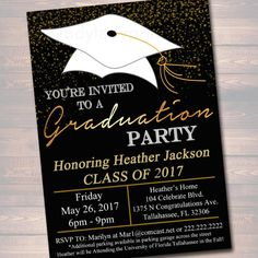 3419 Best Graduation Party Invitations Images Custom Invitations