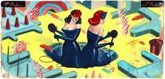 The Shes by Ryan Heshka