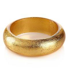 Rara Avis by Iris Apfel Gold-Color Foil Narrow Bracelet