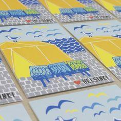 Muumuru postcard: Lempi Helsinki Kauppatori Helsinki, Postcards, Spaces, Greeting Card