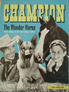 The Adventures of Champion is an American children's Western series that aired from September 23rd 1955 to March 3rd 1956, must of re-run them because l wasn't born them  but watched them in the 60s