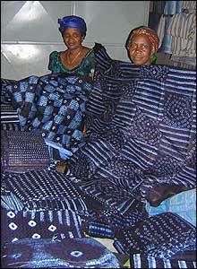 African indigo tie-dye