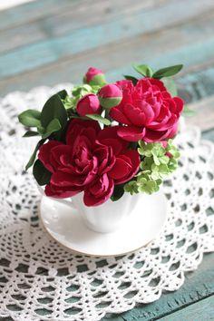All Flowers, Clay Creations, Panna Cotta, Deco, Ethnic Recipes, Food, Deko, Essen, Dekoration