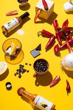 Pepper Nectar Hot Sauce on Behance Food Photography Styling, Food Styling, Product Photography, Photo Food, Mood Images, Food Concept, Label Design, Package Design, Light Recipes